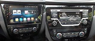 Nissan X-Trail, Qashqai 2014+ - установка мультимедийно-навигационной магнитолы, вид до и после торпедо