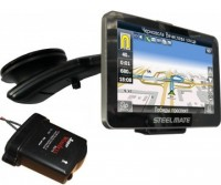 SteelMate All-in-one 881 (GPS+TPMS+PTSV+радар-детектор) + 8Гб класс 10